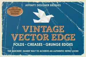 Vintage Vector Edge Brushes - Affinity
