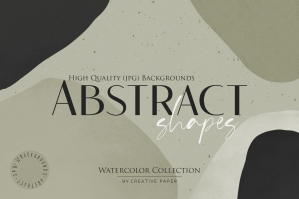 Watercolor Geometric Abstract Shapes 3