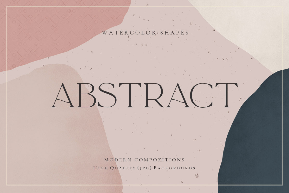 Watercolor Geometric Abstract Shapes