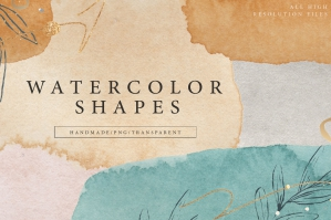 Watercolor Shapes .PNG Overlays