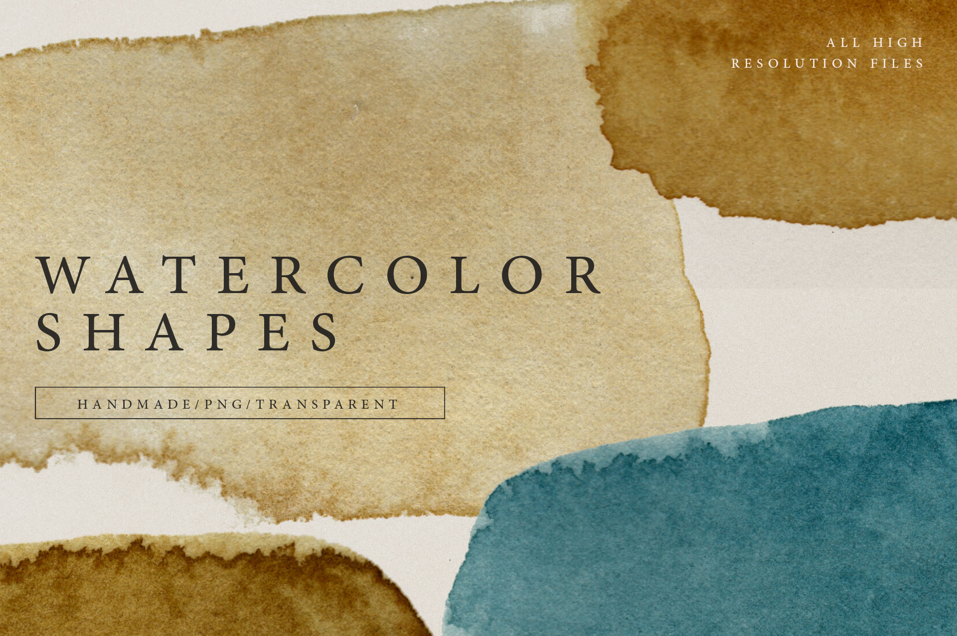 Watercolor Shapes PNG Overlays 2