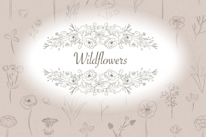 Wildflowers Clip Art