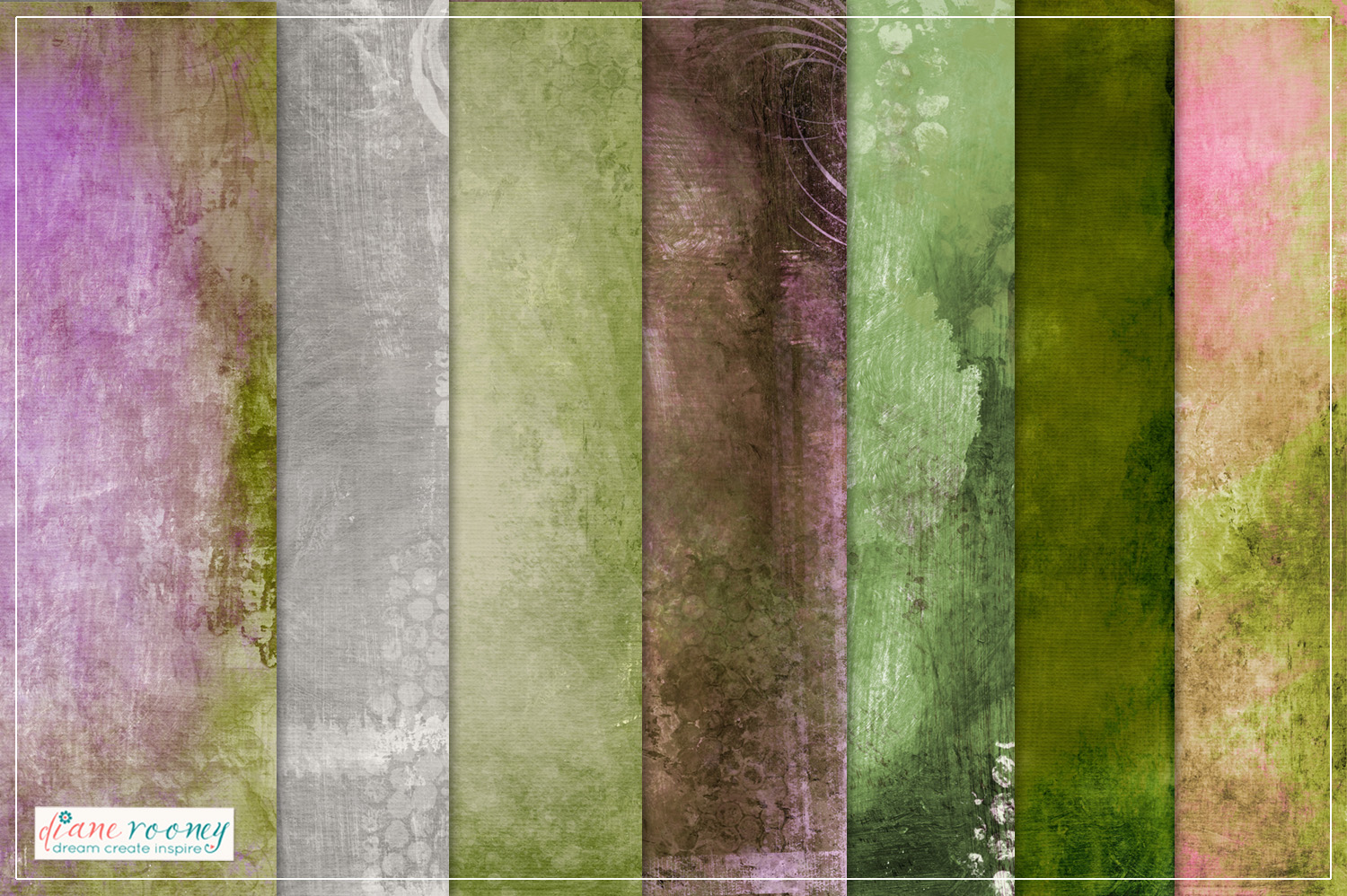 22 Mixed Media Textured Background Papers