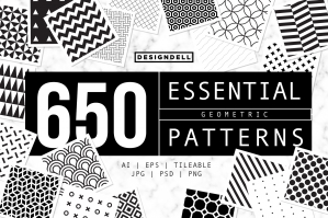 650 Essential Vector Geometric Patterns