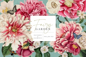 Fairy Garden Vintage Floral Patterns