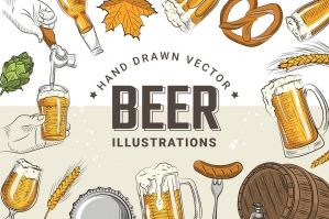 Hand Drawn Vector Beer Illustrations