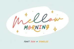 Mellow Morning Font Duo + Doodles