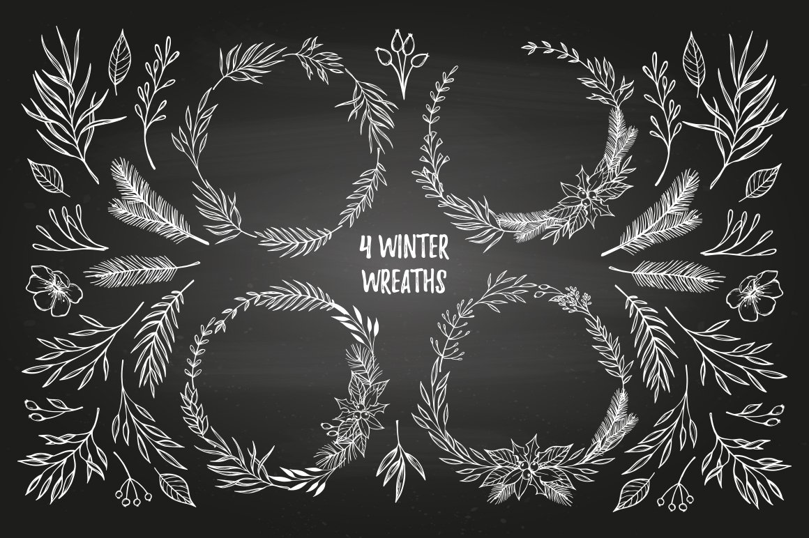 Merry Christmas Winter Elements