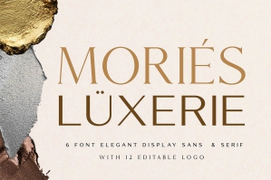 Mories Luxury - Elegant Display Sans & Serif