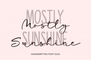 Mostly Sunshine Font Duo