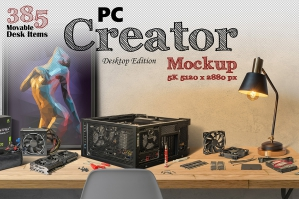 PC Creator 5K Mockup (Desktop Edition)
