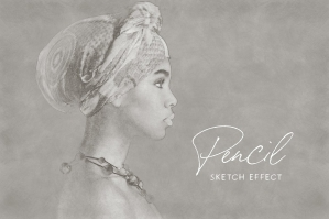Pencil Sketch Photoshop Effect