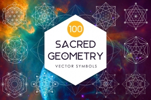 Sacred Geometry - 100 Vector Symbols