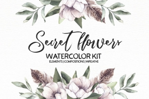 Secret Flowers Watercolor Kit