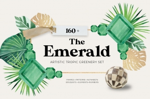 The Emerald Tropic Greenery Set