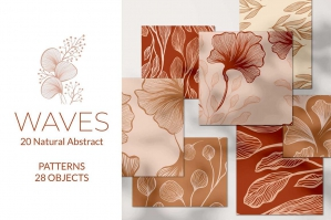 Waves - Abstract Seamless Patterns Collection