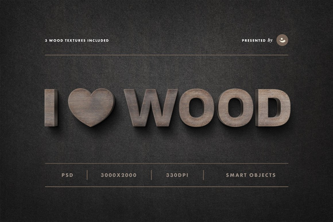 Wood Sign Text Effect