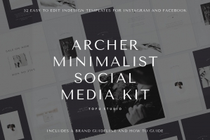 Archer Minimalist Social Media Kit
