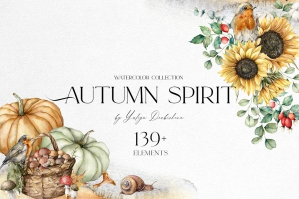 Autumn Spirit. Watercolor Fall Collection