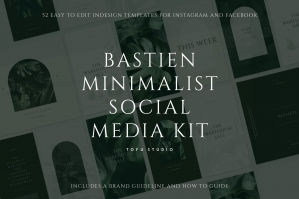 Bastien Minimalist Social Media Kit