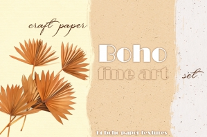 Boho Watercolor Fine Art Paper Texture Set