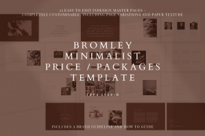 Bromley Minimalist Pricing and Packages Template