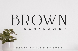 Brown Sunflower - Elegant Font Duo