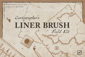 Cartographer's Liner Brush Field Kit