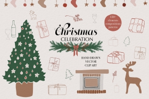 Christmas Vector Clip Art & Patterns