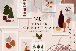 Christmas Winter Abstract Set