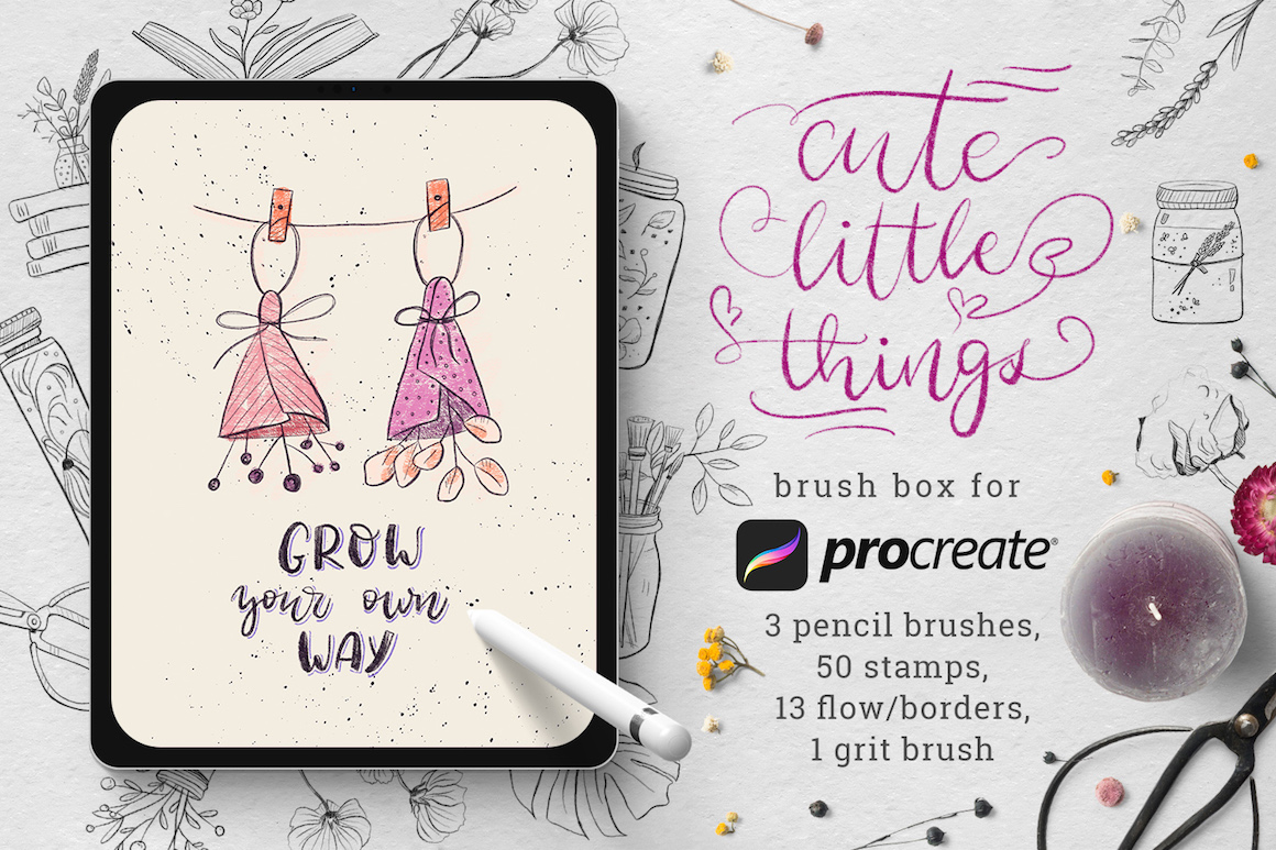 Cute Little Things - Stamps for Procreate