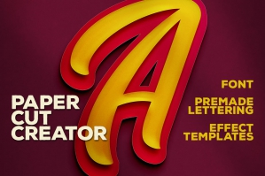 Double Paper Cut Effect & Lettering