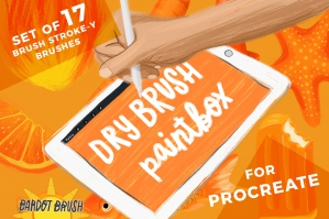 Dry Brush Paintbox for Procreate