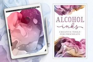 Dynamic Alcohol Ink Brushes for Procreate