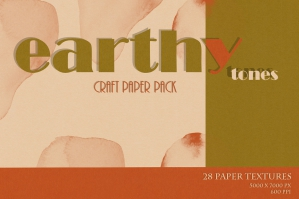 Earthy Tones Craft Paper Texture Set
