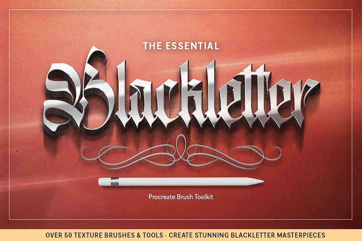 Essential Blackletter Procreate Brush Toolkit