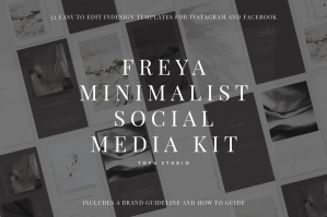 Freya Minimalist Social Media Kit