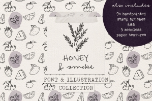 Honey and Smoke Font Collection