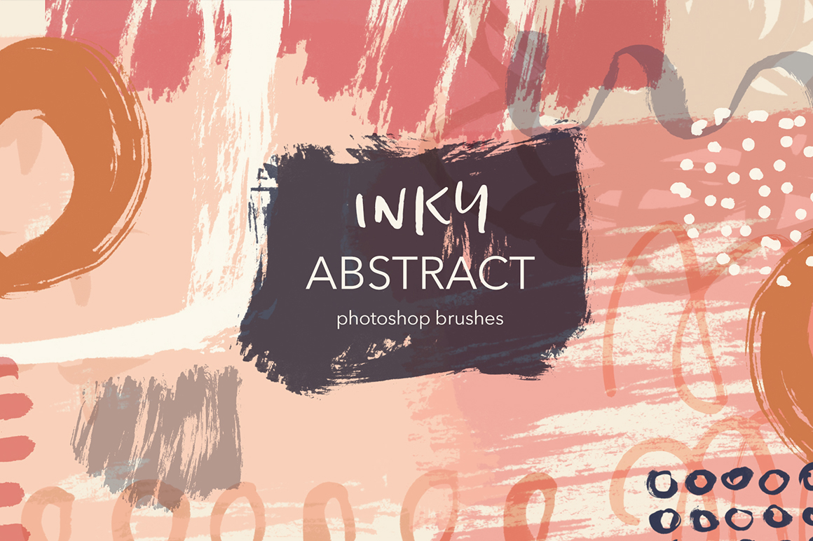 Inky Abstract Photoshop Brushes