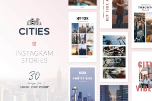 Instagram Stories Cities Pack