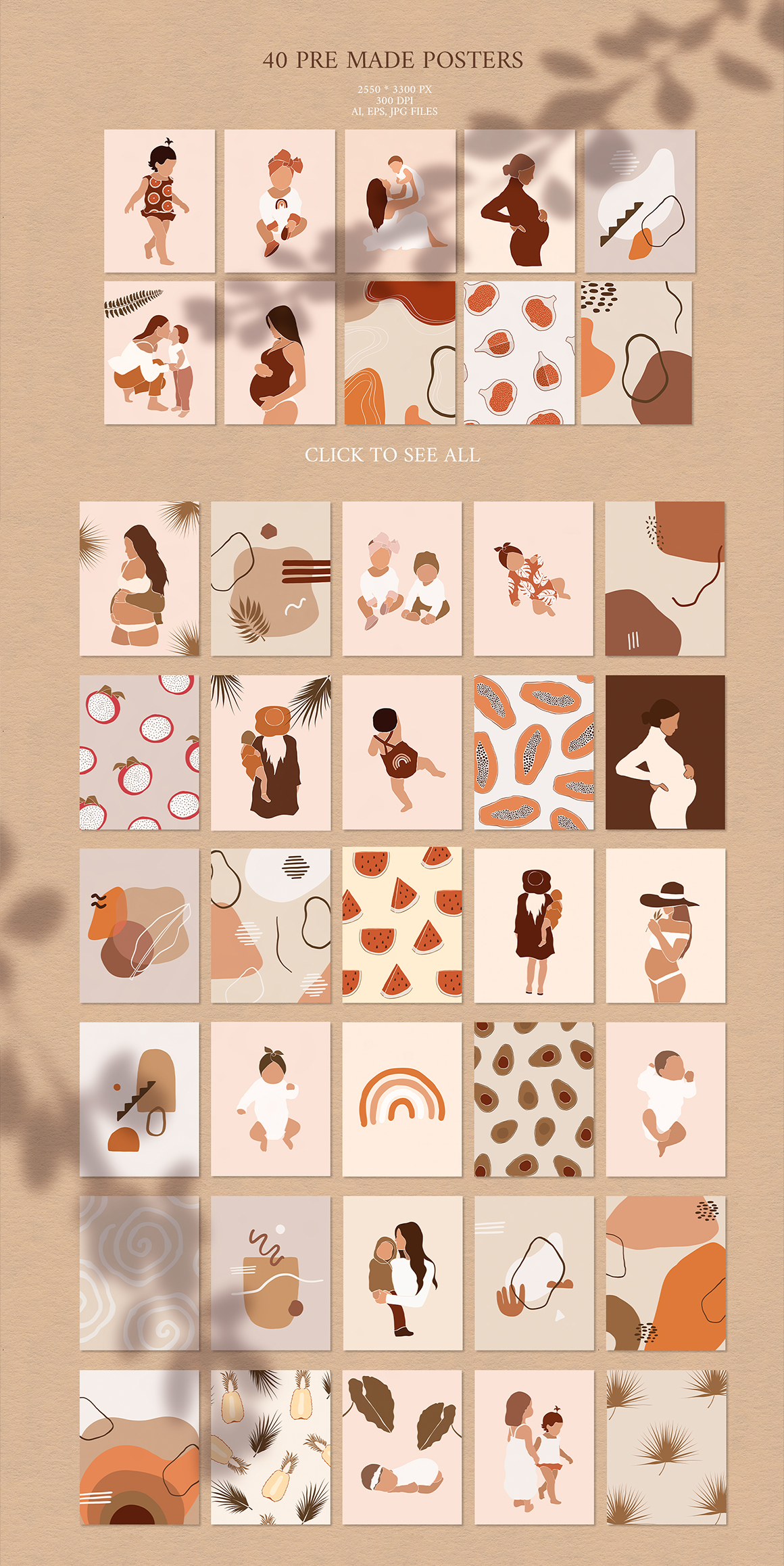 Mothers & Children & More Abstract Graphic Bundle