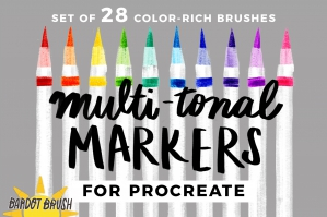 Multi-Tonal Markers for Procreate