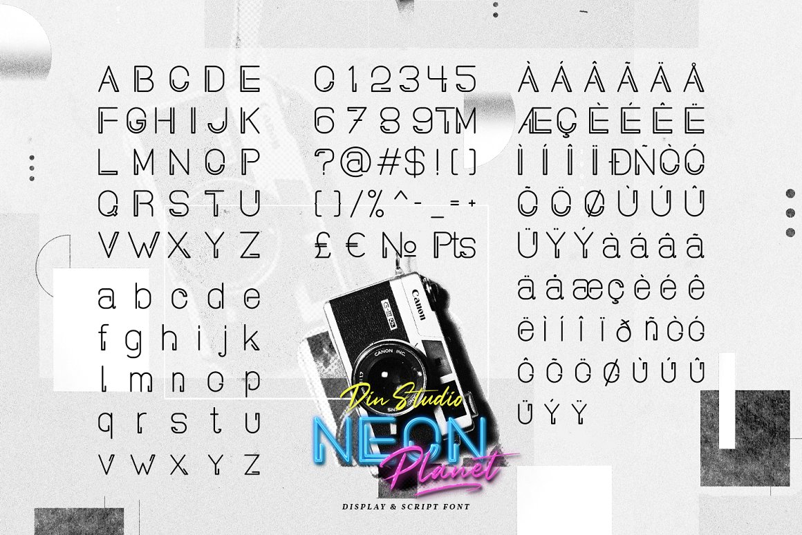 Neon Planet - Font Duo