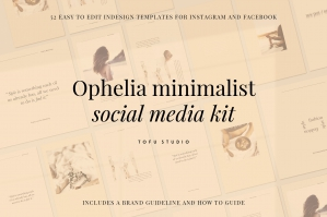 Ophelia Minimalist Social Media Kit
