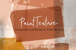 Paint Texture Stamps for Procreate and Photoshop