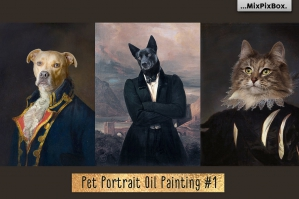 Pet Portrait Oil Background v.1