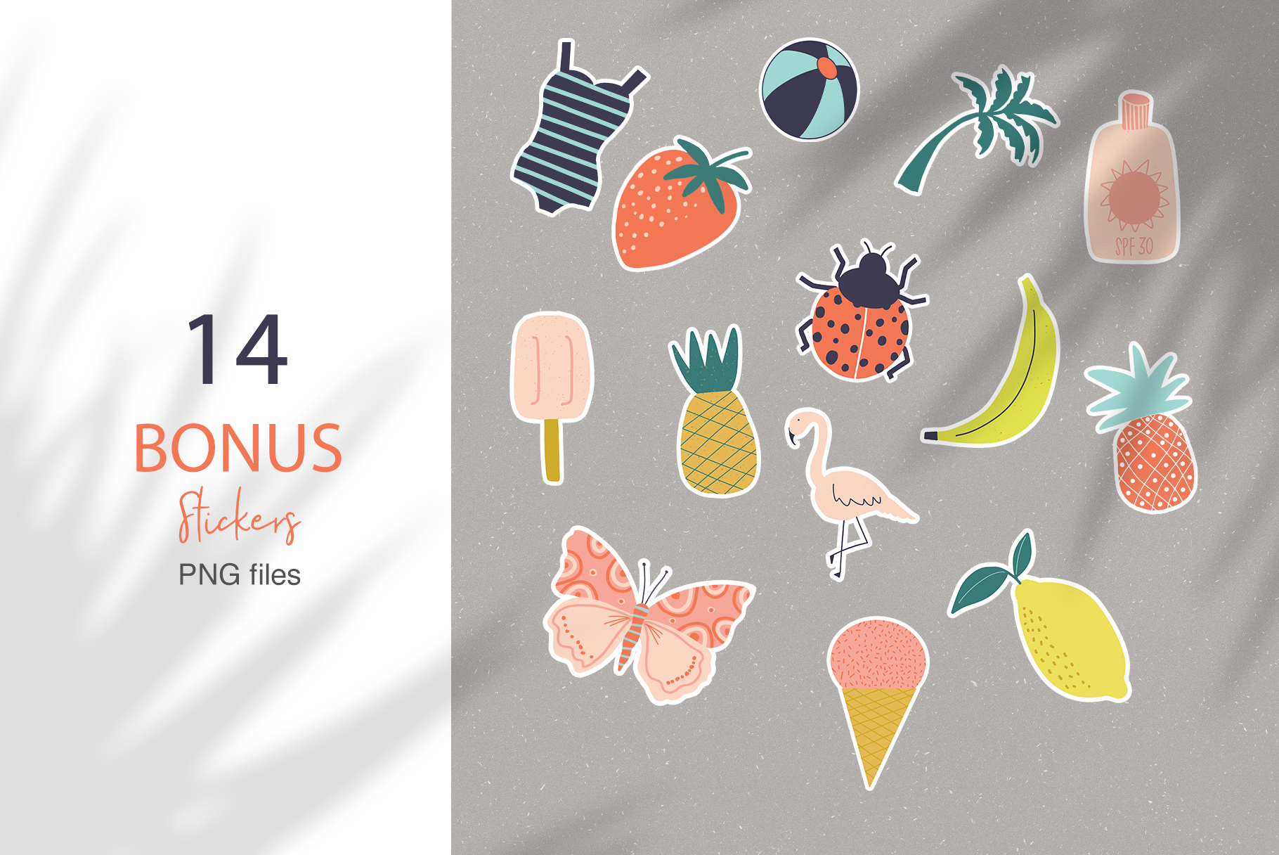 Playful Summer Patterns & Elements Collection