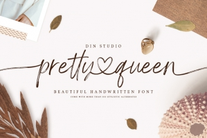 Pretty Queen - Lovely Brush Font