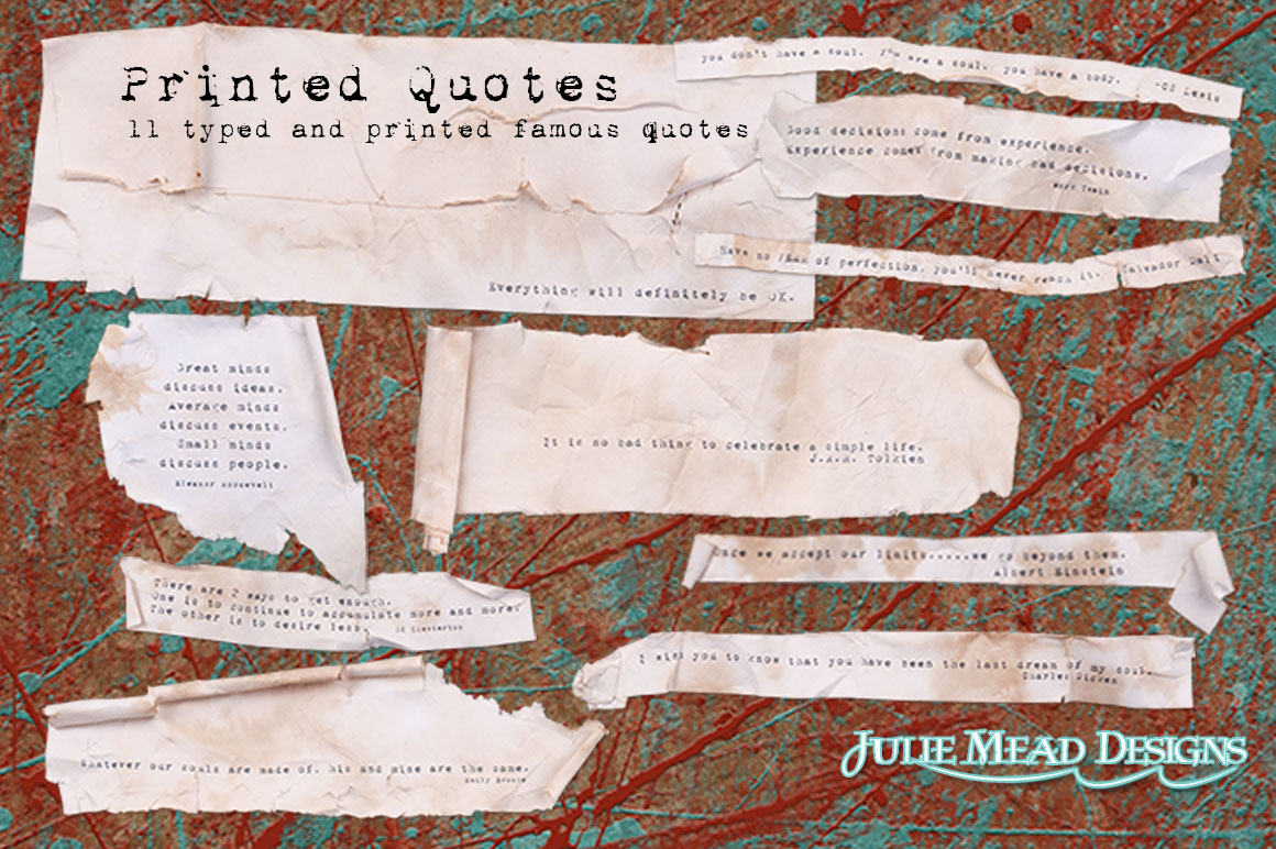 Printed Quotes