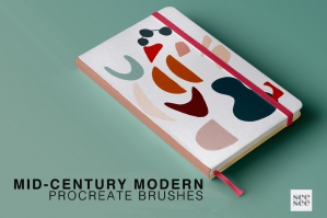 Procreate Mid Century Modern Brush Stamps
